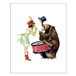 Drumming Bear Small Poster
