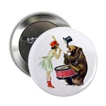 Drumming Bear Button