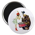 Drumming Bear Magnet