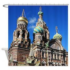 St. Petersburg, Russia Shower Curtain