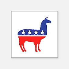 Political Party Llama Mascot Sticker