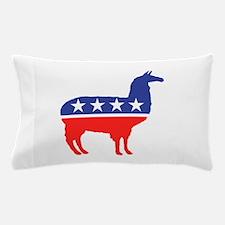Political Party Llama Mascot Pillow Case
