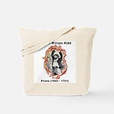 Captain William Kidd Pirate Tote Bag