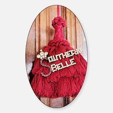 southern belle Sticker (Oval)