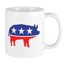 Political Party Pig Mascot Mugs