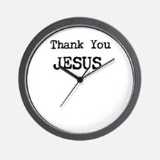 Thank You Jesus Wall Clock