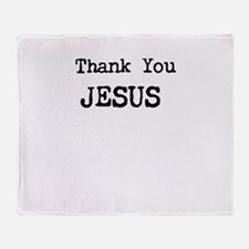 Thank You Jesus Throw Blanket