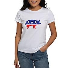 Political Party Pig Mascot T-Shirt
