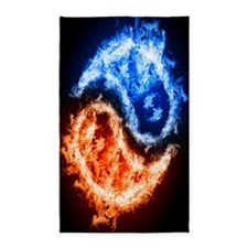 Fire And Water Yin Yang 3'x5' Area Rug