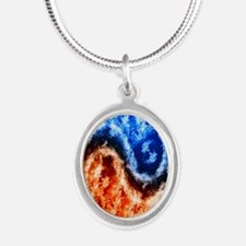 Fire And Water Yin Yang Necklaces
