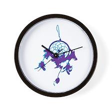 Purple Dream Catcher Wall Clock