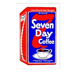 7 Day Coffee Postcards (Package of 8)