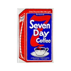7 Day Coffee Rectangle Magnet (100 pack)