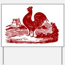 Red Farmyard Rooster Yard Sign
