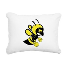 Bee Mascot Rectangular Canvas Pillow