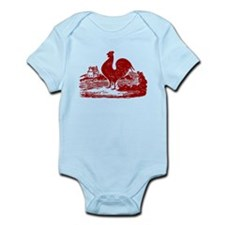 Red Farmyard Rooster Body Suit
