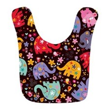 Colorful Elephants Bib