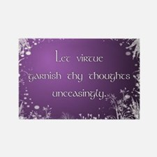 Virtue (purple) Rectangle Magnet