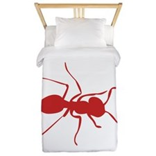 Red Ant Silhouette Twin Duvet