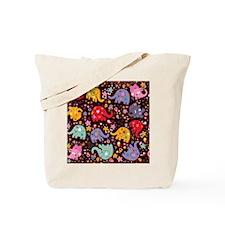 Colorful Elephants Tote Bag