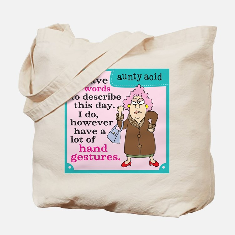 Aunty Acid: Hand Gestures Tote Bag