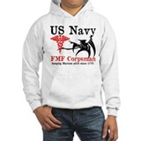 Marine corpsman Hooded Sweatshirt