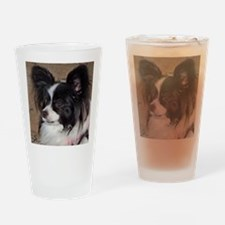Papillon Side pose Drinking Glass