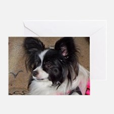 Papillon Side pose Greeting Card