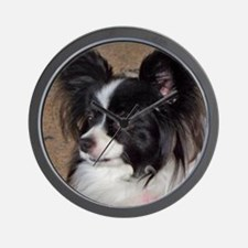 Papillon Side pose Wall Clock