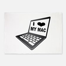 I Love My Mac 5'x7'Area Rug