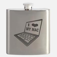 I Love My Mac Flask