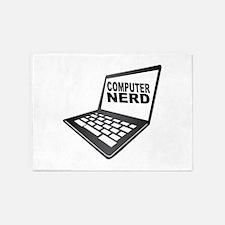 I Love My MacComputer Nerd 5'x7'Area Rug