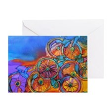 Bike Sculptor Greeting Card