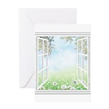 Spring View Greeting Cards