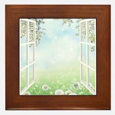 Spring View Framed Tile