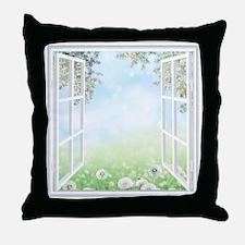 Spring View Throw Pillow