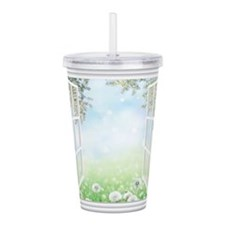 Spring View Acrylic Double-wall Tumbler