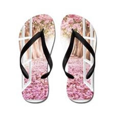 Romantic View Flip Flops