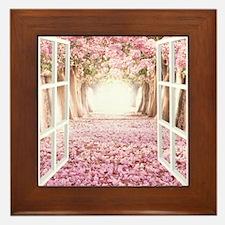Romantic View Framed Tile