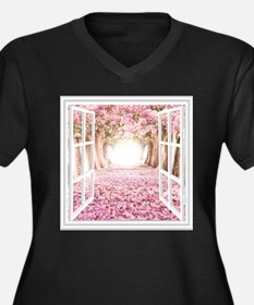 Romantic View Plus Size T-Shirt