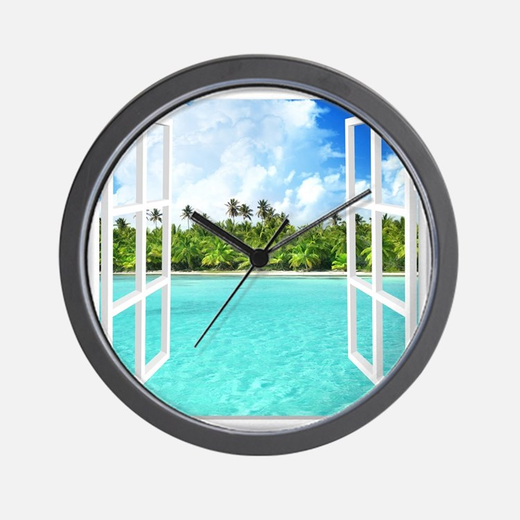 Island View Wall Clock