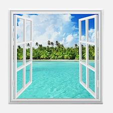 Island View Tile Coaster