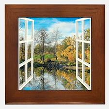 Lake View Framed Tile