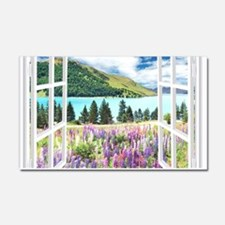 New Zealand View Car Magnet 20 x 12