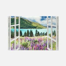 New Zealand View Magnets