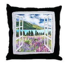 New Zealand View Throw Pillow