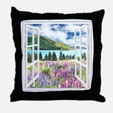 New Zealand View Throw Pillow
