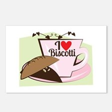 Biscotti Latte Postcards (Package of 8)