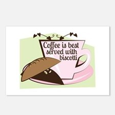 Coffee Biscotti Postcards (Package of 8)