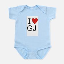 Cute I heart gj Infant Bodysuit